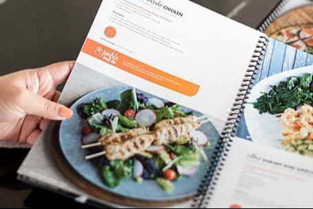 Page of Profile healthy cookbook.