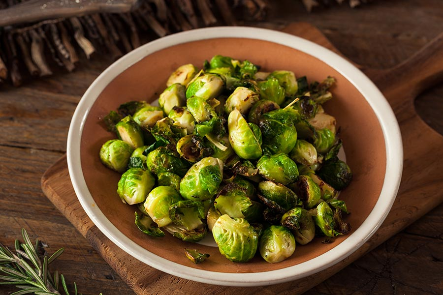 Plate Balsamic Brussel Sprouts Recipe