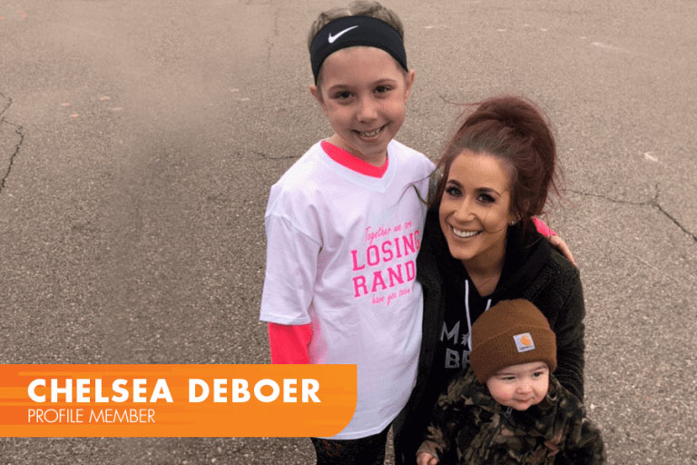 Chelsea DeBoer Teen Mom Profile by Sanford with two of her kids