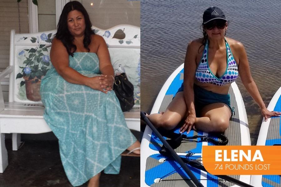 Elena Lost 74 pounds on Profile