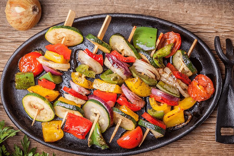Rainbow Grilled Veggie Kabobs