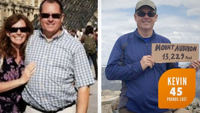 Kevin lost 45 pounds on Profile