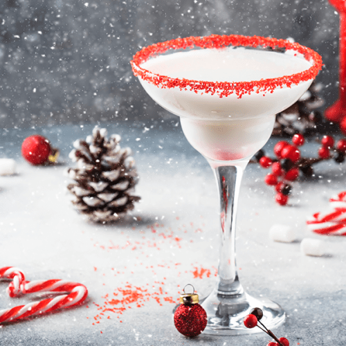 "Peppermint Stick ""Martini"" Shake"