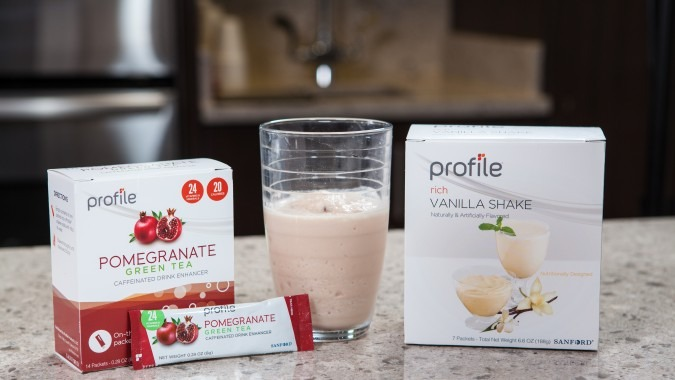 Profile Pomegranate Green Tea Protein Shake