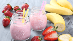 Strawberry Banana Cheesecake Shake