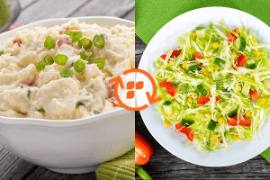 Potato Salad vs Farmers Market Veggie Salad