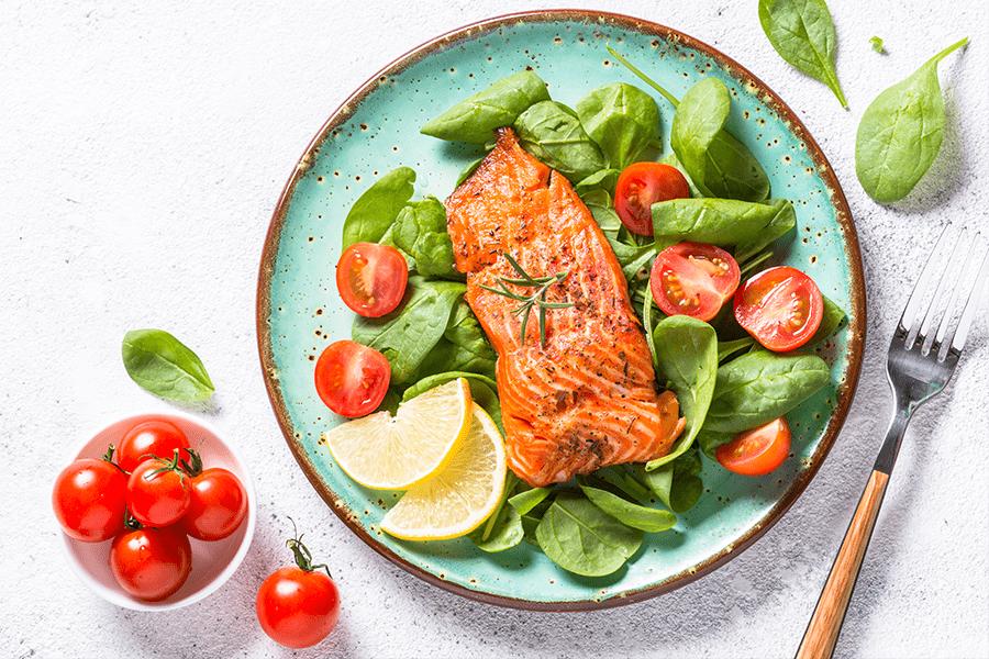 Salmon & Leafy Green Salad