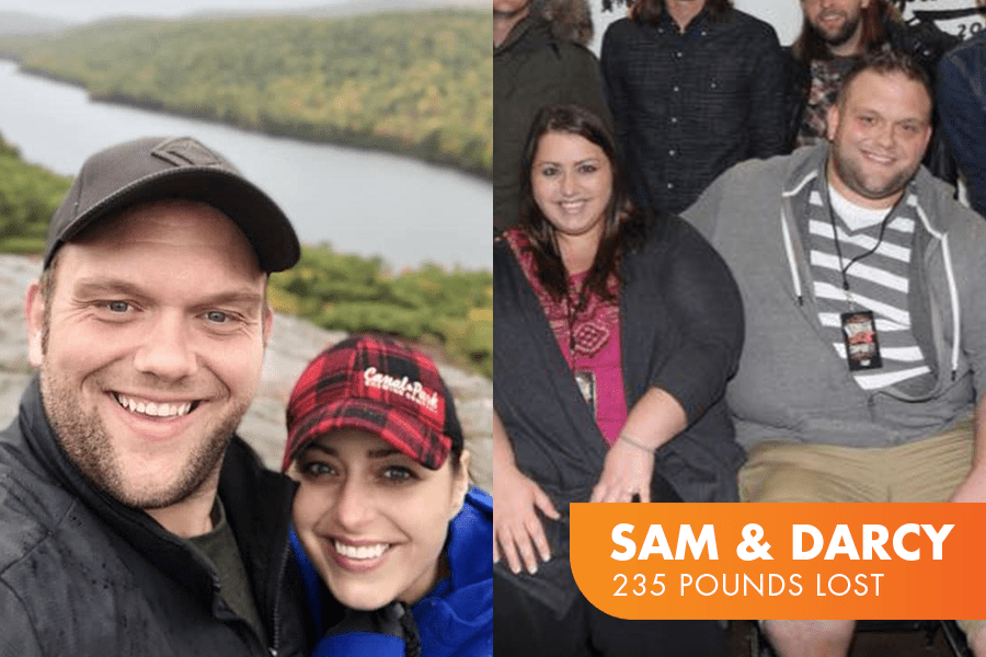 Sam and Darcy lost 235 pounds together on Profile