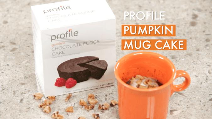 Profile Pumpkin Mug Cake