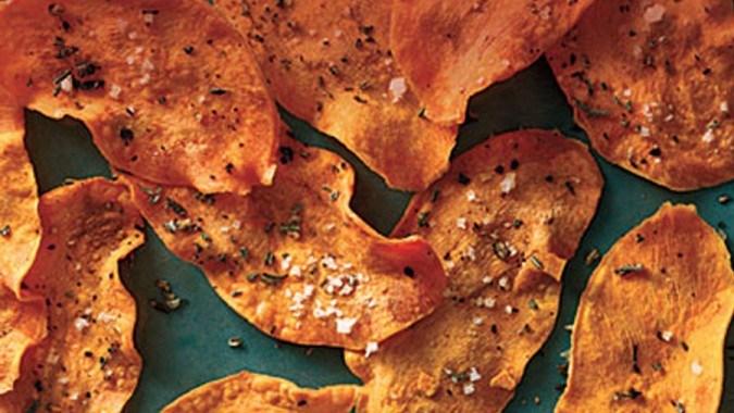 Microwave Sweet Potato Chips