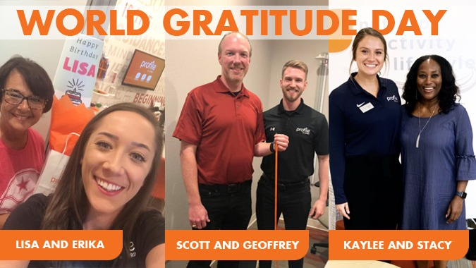 Profile Members and Their Coaches Share What They're Grateful For on World Gratitude Day