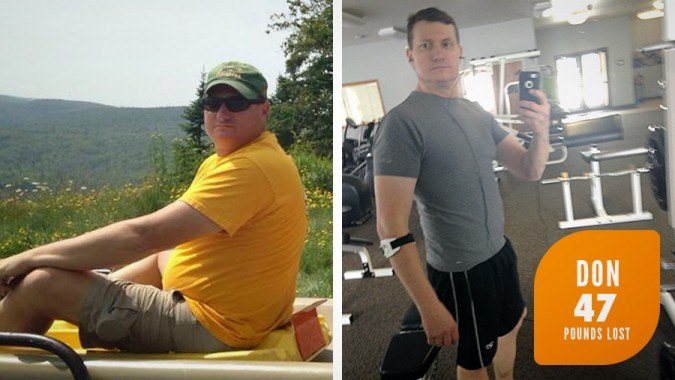 Don lost 47 pounds on Profile