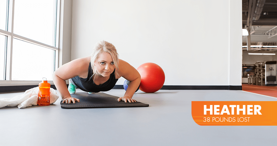 Heather lost 38 pounds with Profile
