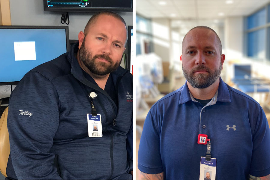 Before and after weight loss photo of Sean, Profile member